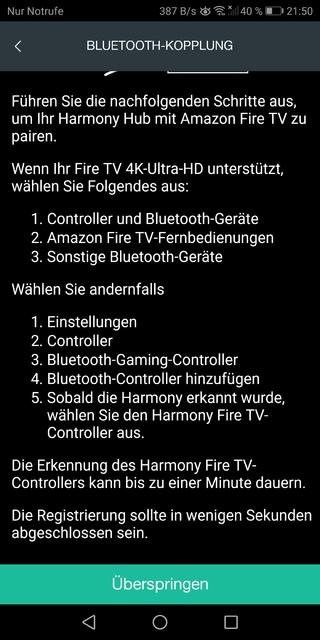 Harmony und Fire TV 1