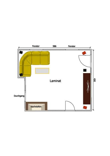 Grundriss Wohnzimmer