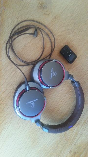 Audio Technica + Sansa Clip Jam