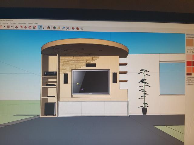 tv wohnwand tipps trockenbau inkl 3d zeichnung. Black Bedroom Furniture Sets. Home Design Ideas