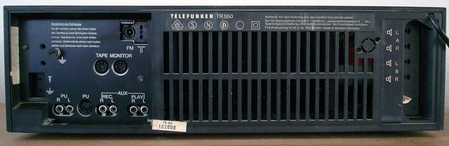 Telefunken TR550 Bj. 1979-1980 Backside