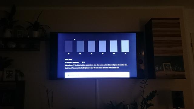Sony KDL65X9305C Einleuchten