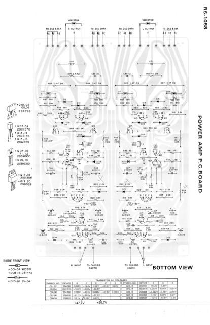 Fisher RS1058: Power Amp Transistoren heiß, Hifi-Klassiker - HIFI-FORUM