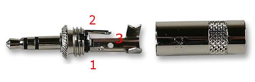 REAN Klinke 3,5mm vernickelt b