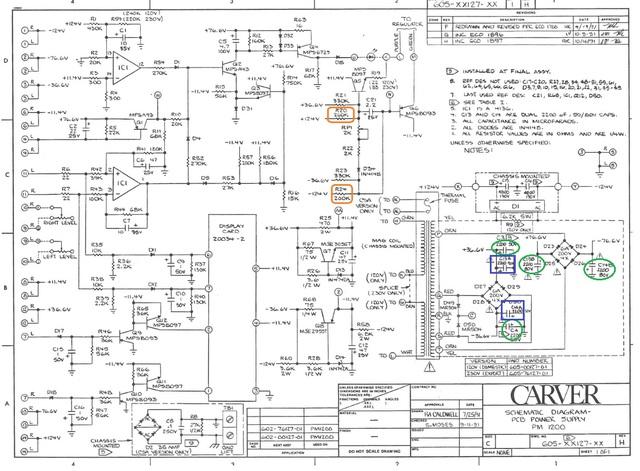CarverPM1200 Stromversorgung