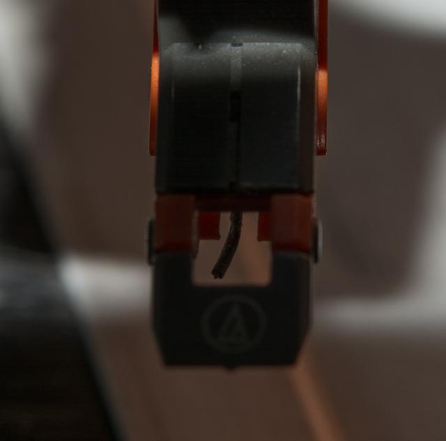 audio-technica mit gebogener Nadel