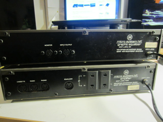 Equalizer und Amplifier Vorderseite/Rückseite