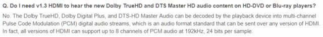 HDMI Audio Upstream