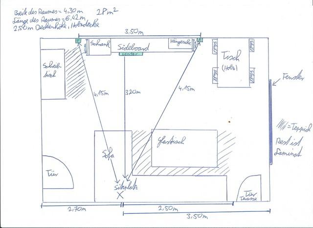 Wohnzimmer Skizze 001