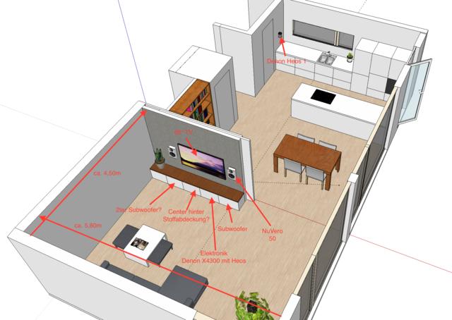 kuche und wohnzimmer zusammen raum und m beldesign inspiration. Black Bedroom Furniture Sets. Home Design Ideas