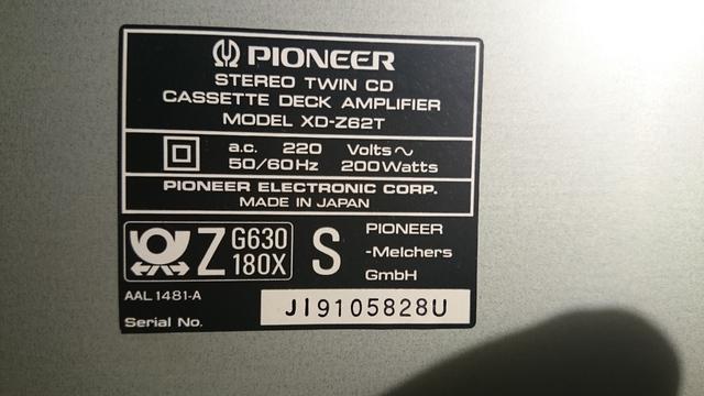 Technische Daten Pioneer XD-Z62T