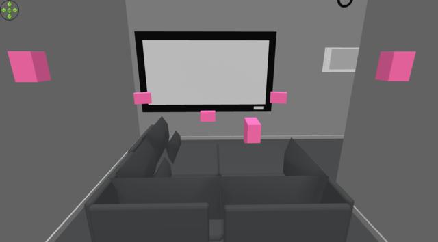 hinter der Couch