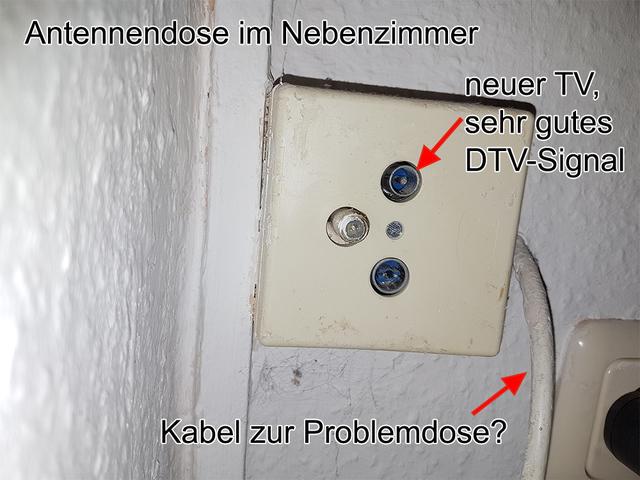 Kein Signal (analog/digital) an Durchgangsdose, Kabel (analog, DVB-C ...