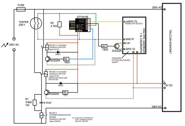PI HiFiBerry Player mit Relais AC-seitig an-/auschalten ...