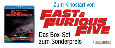 The Fast And The Furious Box-Set Aktion