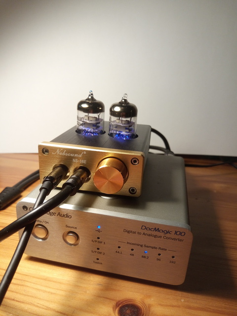 Nobsound NS-08E und Cambridge DACMagic 100
