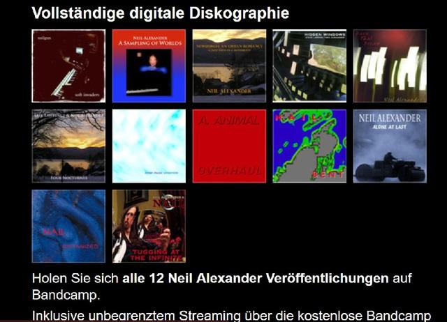 Neil Alexander - Diskographie