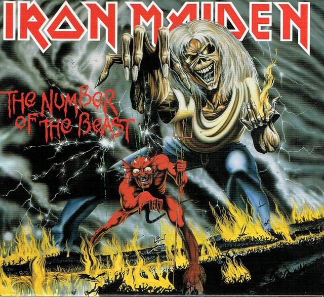 Iron Maiden - The Number Of The Beast (CD-Cover)