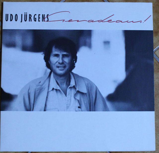 Udo Jürgens - Geradeaus (LP-Cover)