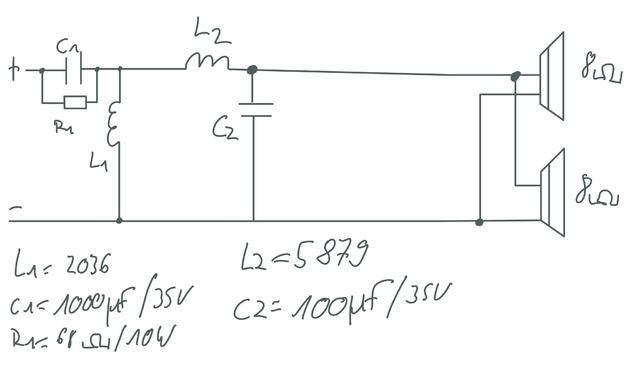 Schaltplan Bandpass