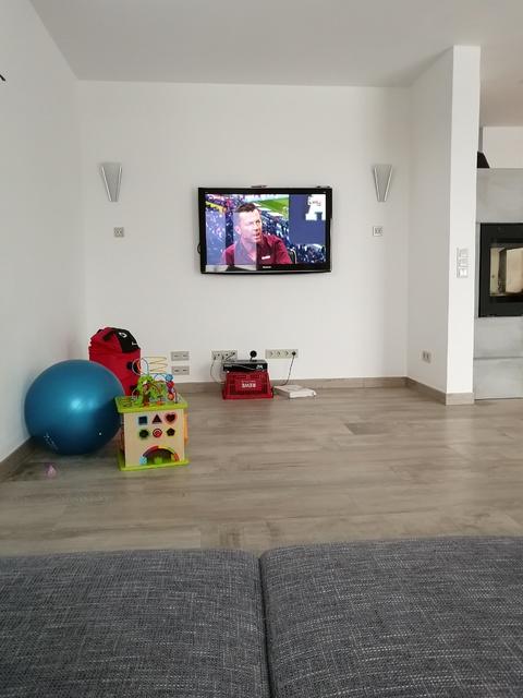 Blick Vom Sofa Auf TV