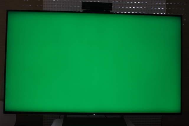 Sony 65XE9305 Randschatten (Beispiel Grünes Vollbild)