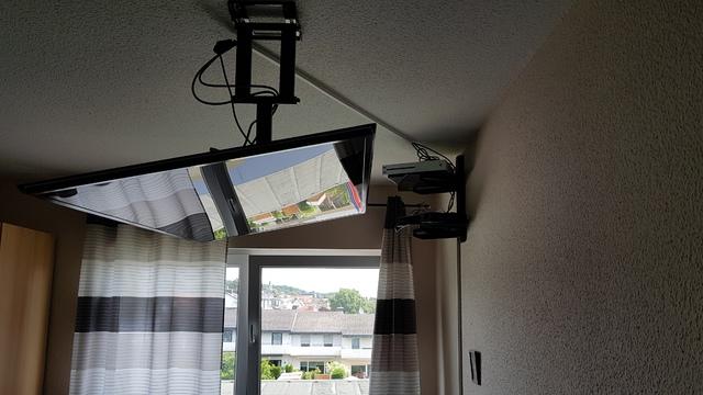 Flatscreen - horizontale Deckenmontage, Anschluss ...