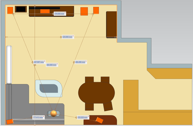Draufsicht Wohnzimmer