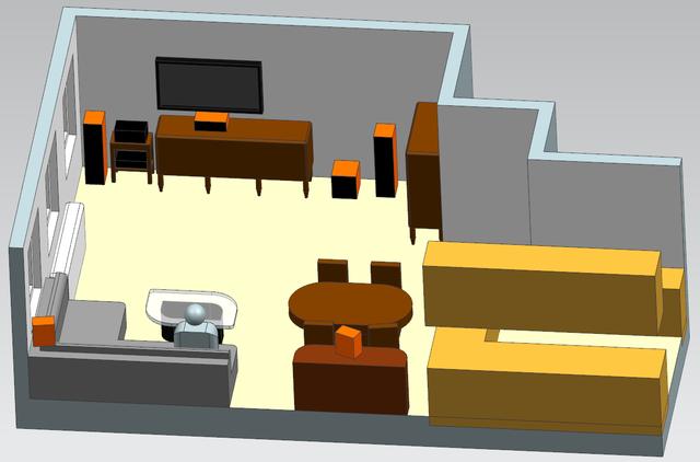 ISO Ansicht Wohnzimmer