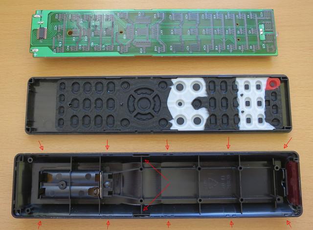 Fernbedienung Denon RC-1204 offen