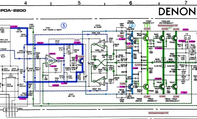 denon-poa-2200-schematic-detail-left-power-amp-final-stages-5-8-marked_1081910
