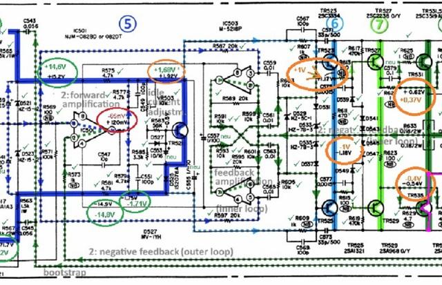 denon-poa-2200-schematic-detail-left-power-amp-voltages_checked_2