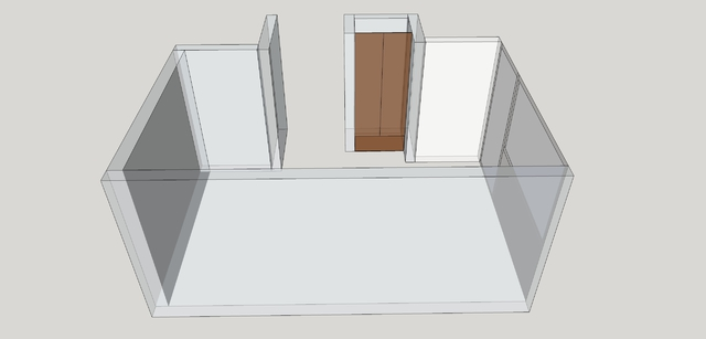 Arbeitszimmer - Grundriss In SketchUp