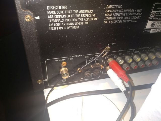 Phono-Anschluss An Pioneer SX 102 Mit Erdung