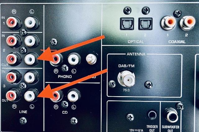 Yamaha RN803D Rückseite