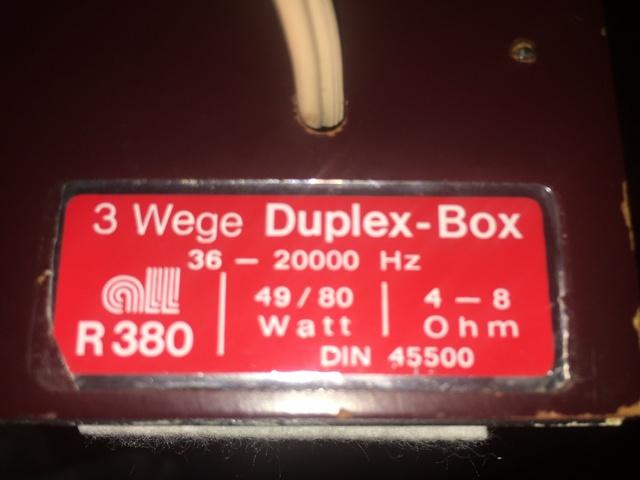 Lautsprecherbezeichnung