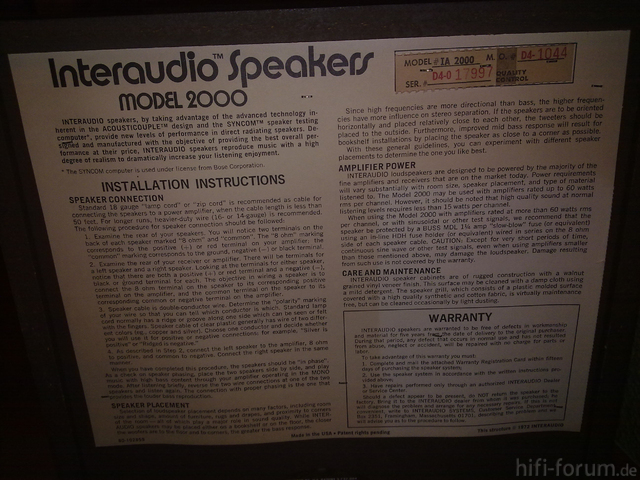 Interaudio Model 2000