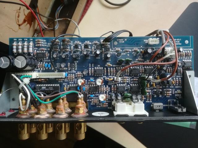 PSW3000 POWER PRE AMP PCB Draufsicht