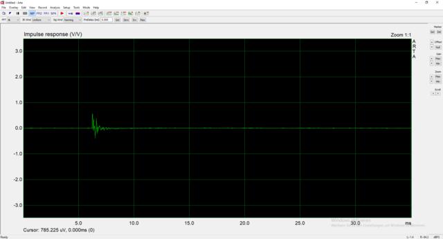 Messung 3, Frequenzgang, 3cm Entfernt, Bedämpft, No Gate