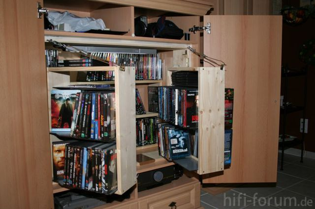 dvd regal dvdregal heimkino surround hifi bildergalerie. Black Bedroom Furniture Sets. Home Design Ideas