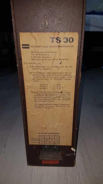 Lautsprecher Etikett
