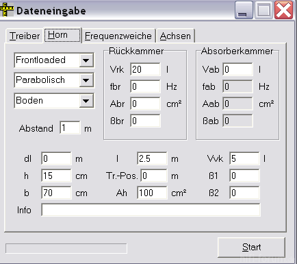 Hornparameter Ohne AK