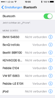 BT-Kopplung mit iPhone