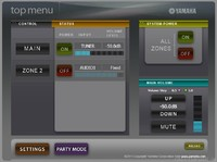 RX-V771 Webinterface