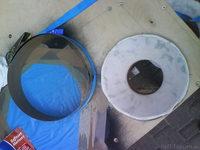 Reserveradmuldenausbau Ibiza 6L - Herstellung Abdeckplatte 129
