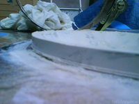 Reserveradmuldenausbau Ibiza 6L - Herstellung Abdeckplatte 137