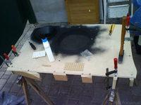 Reserveradmuldenausbau Ibiza 6L - Herstellung Abdeckplatte 150