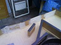 Reserveradmuldenausbau Ibiza 6L - Herstellung Abdeckplatte 155