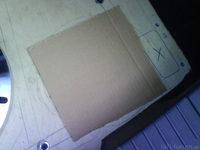 Reserveradmuldenausbau Ibiza 6L - Herstellung Abdeckplatte 80