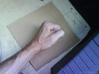 Reserveradmuldenausbau Ibiza 6L - Herstellung Abdeckplatte 81